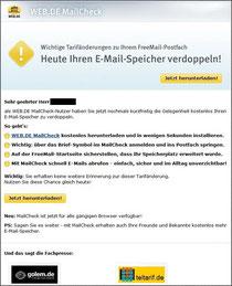 Mail von WEB.DE
