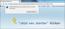 Neustart von Firefox