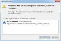 Installtion unter Firefox erlauben