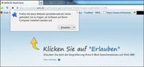 Installation unter Firefox
