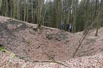 Eingestürzter Schacht der Braunkohlegrube Concordia (Foto: B. Funk)