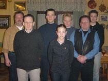 Oben von links: Peter Otto, Christian Müller, Martina Kleffmann, Sven Otto   Vorne von links: Andreas Müller, Anika Otto, Friedhelm Schütte