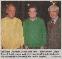 Franz-Josef Schullte im Busch, Johannes Leushacke, Ludger Besse