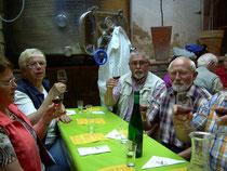gemütlichen Weinprobe beim Winzer
