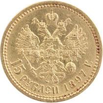 Russischer Goldrubel 1897