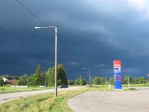 Ganz, ganz dunkle Wolken
