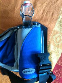 Mein treuer Begleiter an heißen Tagen: eine Wasserflasche.