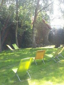 Le jardin au soleil d'août