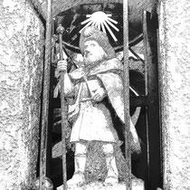 Jakobsstatue in Valencogne, Frankreich