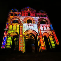 Kathedrale Le Puy beim Lichtfest