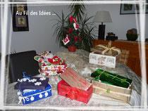 """Emballages kdo's réalisés en Oct 2010 façon """"Au Fil des Idées"""""""