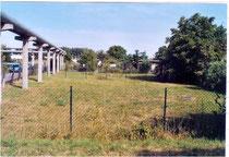 Ehemaliger Schulgarten in der Wilhelm-Hellge-Straße - bald wird hier ein Schwalbenturm stehen