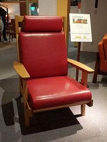 エゾシカ革を用いた椅子