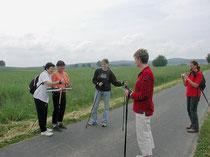 Bewegung mit Nordic Walking