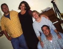 Joe, Andi, Conny und ich