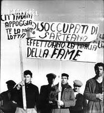 Marcia della disoccupazione e della fame 1956 - 1957