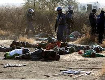 Solidarieta' ai minatori sud africani