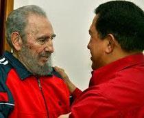 Fidel Castro e Hugo Chàvez