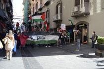 la manifestazione di Napoli