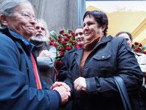 l'ambasciatrice cubana, Carina Soto Aguero e Heidi Giuliani