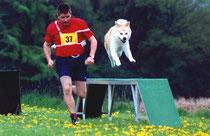 Michael und Tari auf dem Weg zum Kreismeister 2000
