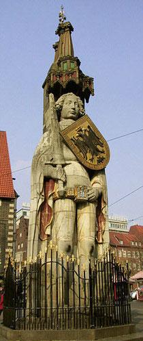 Der Bremer Roland als Zeichen der Unabhängigkeit der Bürger vom Stadtherrn