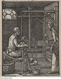 """""""Der Weber"""" im """"Ständebuch"""" des Jost Ammann (1568)"""