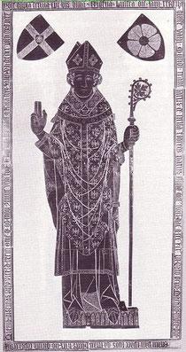Grabplatte von Fürstbischof Bernhard V. im Dom zu Paderborn