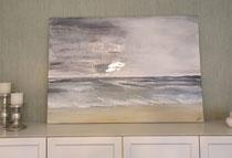 Acryl auf Leinwand 70x100cm mit silbernen Details