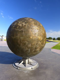 Sonne mit einem Durchmesser von 1,39 m im Melbourner Sonnensystem