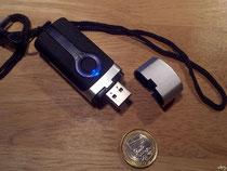 Nicht größer als ein klobiger USB-Stick