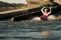 Bootsrutschen machen Spaß