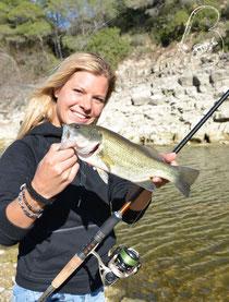 Babs Kijewski Bass fishing