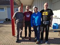 Maximilian, Sven und Carsten bei Rory Miller in Fritzlar