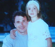 С дочерью Машей. Лето 2000 г.