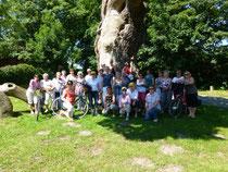 Teilnehmer der ersten Radtour im Künstlerdorf Dötlingen