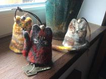 Tierischen Schlüsselhüter filzen mit Bernadette