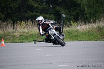 Motorradsicherheitstraining Agentur-Grenzbereich