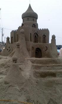 砂のお城(ビーチフェスタにて)…すごい!