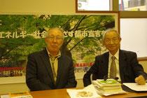 講演をした増田善信先生(右)と本間慎実行委員長