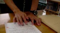 受理された陳情書と署名簿