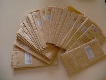 返送されたアンケート書類です