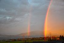 Regenbogen über dem Linthtal am 7.9.2010