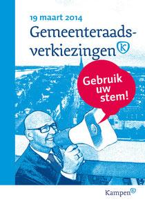 Verkiezingsposter Gemeente Kampen