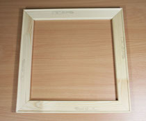 Ein Holzkeilrahmen für Leinwandbilder