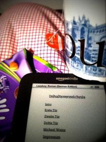 """""""Lazyboy"""" auf dem Kindle. (Foto von Martina Schröder)"""