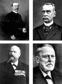 Fürst zu Bentheim-Tecklenburg, Ferdinand Bartels, Emil Mangelsdorf, Dr. Wilhelm Schüter