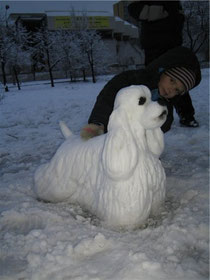 Снежная скульптура