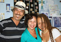 Jose Angel Figueroa, Iris Morales & Lady at Poets Passage