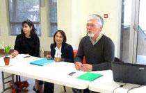 Laurence Fixy, Patricia Migale et Pierre Dufour - Photo DDM P.M.